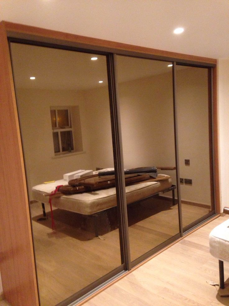Tinted mirror doors with cherry interior & 26 best Wardrobe ideas - Sliding doors images on Pinterest ...