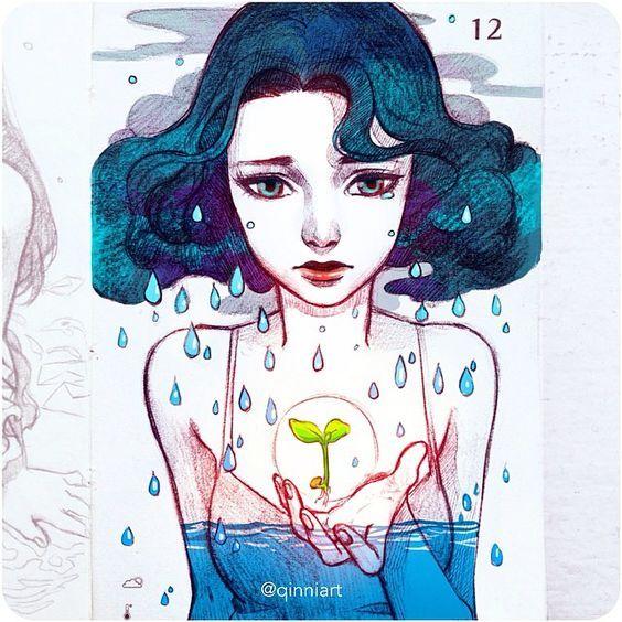 Qing Han | Qinni @qinniart Though I am drown...Instagram photo | Websta (Webstagram): They Have, Design Female, Art Help, Awe Inspiring Artwork, Art Inspiration, Character Design, Astonishing Art, Photo, Qinni Qinniart