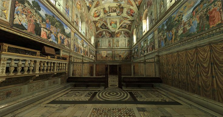 Sistine Chapel facing the entrance.