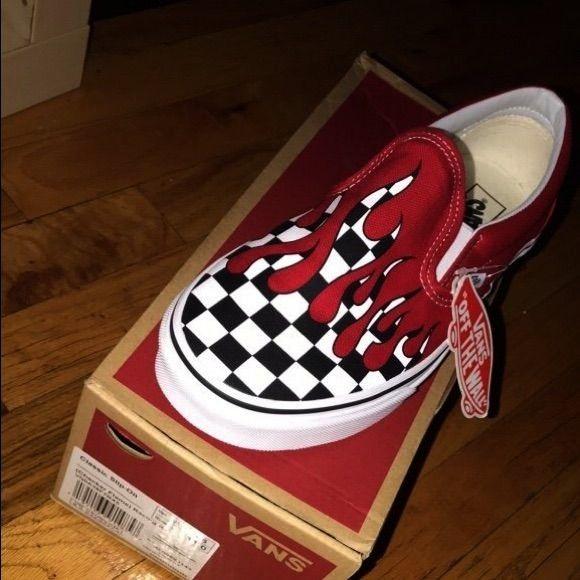 Vans Classic Slip-On (Checker Flame