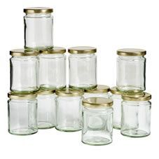 Wilko Twist Top Jar 300ml 12pk
