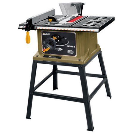 Rockwell RK7240.1 Shop Series 13 Amp 10 in. Table Saw with Leg Stand, Multicolor