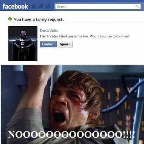 Wats the matter #Luke don't like ur #father ?   #DarthVader  #embracethedarkside  #starwars #nerdhumor