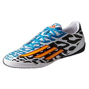 Indoor Soccer Shoes | adidas F10 IN Messi Battle Pack Indoor Soccer Shoes White-Black | Soccer Cleats | 1soccerstore.com