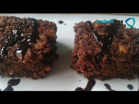 Receta de como preparar brownies de frijol negro. Receta comida mexicana / Receta de brownies