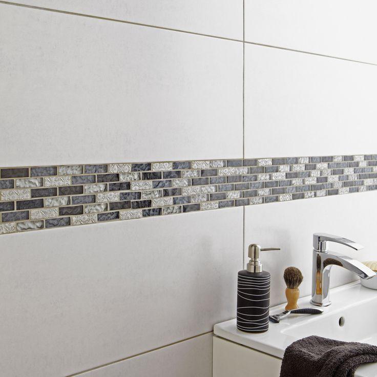 Destination du carrelage mur aspect mati re aspect b ton - Faience pour salle de bain leroy merlin ...