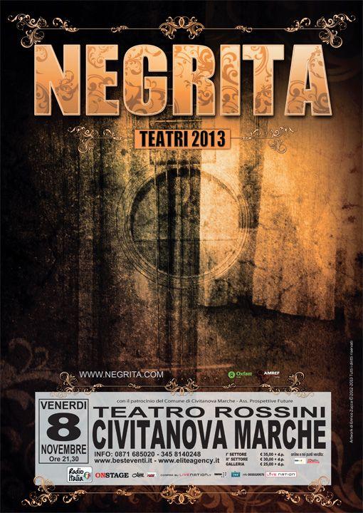 """Tutto esaurito per i Negrita. La rock band italiana prosegue il suo tour a suon di """"sold out"""" come in questa tappa civitanovese in programma venerdi 8 Novembre. - See more at: http://www.civitanovamarche.info/i-negrita-venerdi-8-novembre-teatro-rossini/#sthash.V7VAGpOv.dpuf"""