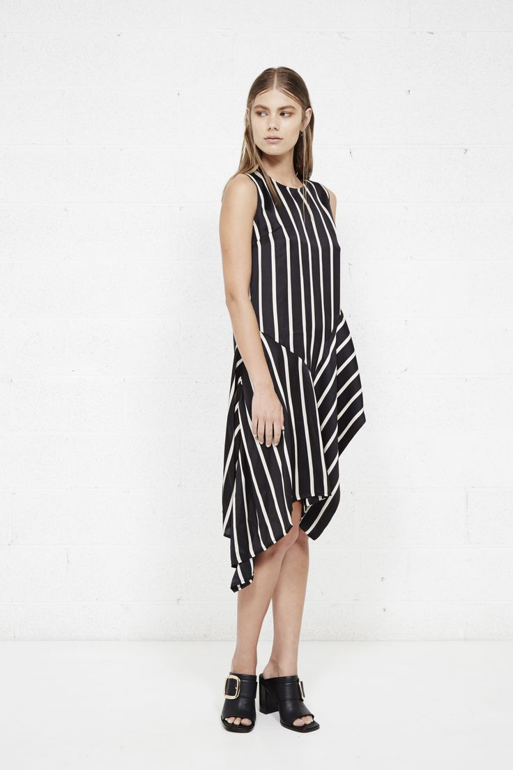 THIRD FORM AW16 PT2 'LINEAGE DRESS' #black #stripe #dress #fashion #style #trend #streetstyle #minimalism
