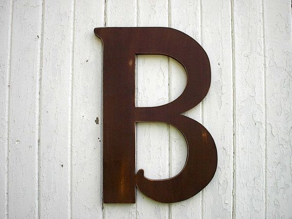 wooden letters b large 24 inch brown distressed wood wall With big letters to hang on wall