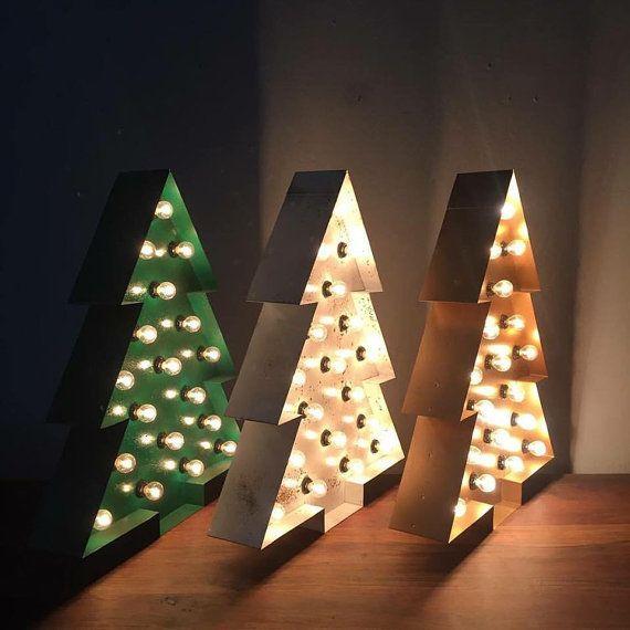 Custom 24 Christmas Tree Marquee por sawandsteel en Etsy