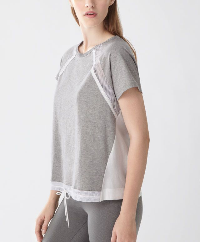 Mesh details t-shirt - New In - Autumn Winter 2016 trends in women fashion at…