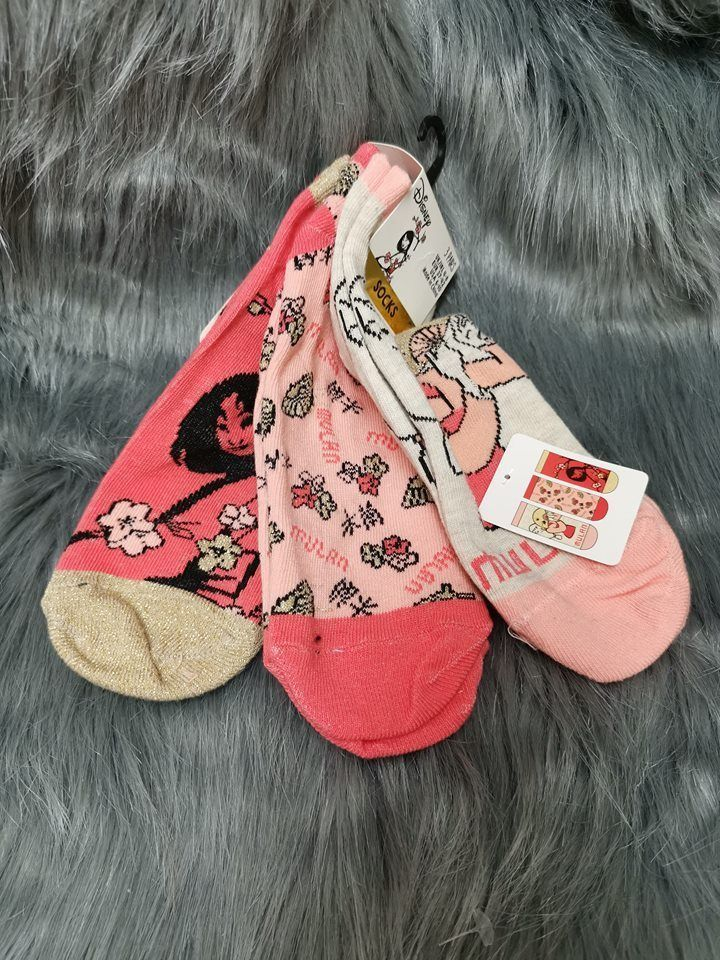 Rick /& Morty Shoe Liners 3 pairs Ladies Trainer Stocks Size UK 4-8 Primark