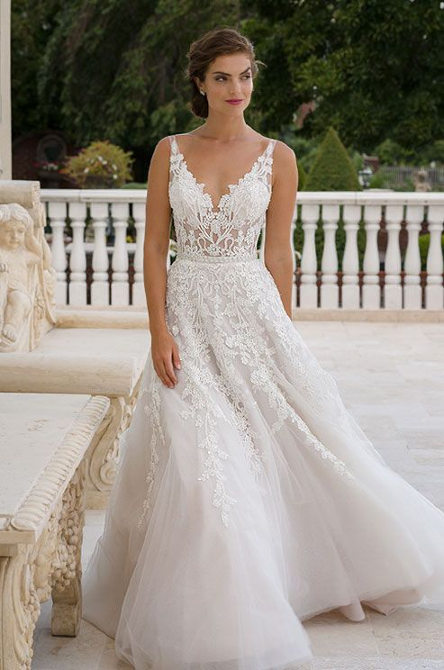 Beaded Wedding Dress with Straps – fashion dresses