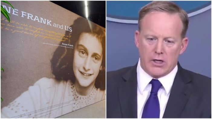 The Anne Frank Center Calls For Sean Spicer To Be Fired For Spreading Holocaust Denial