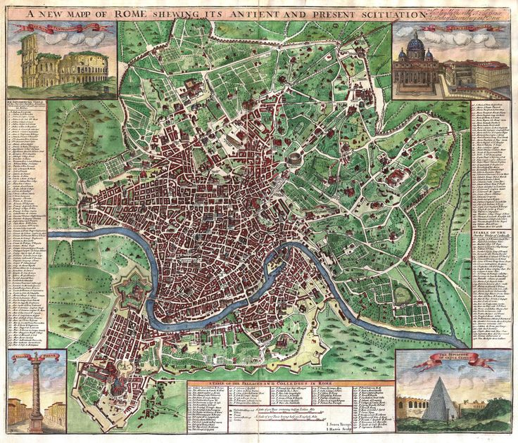 26 best Maps of the City of Rome images on Pinterest  Rome