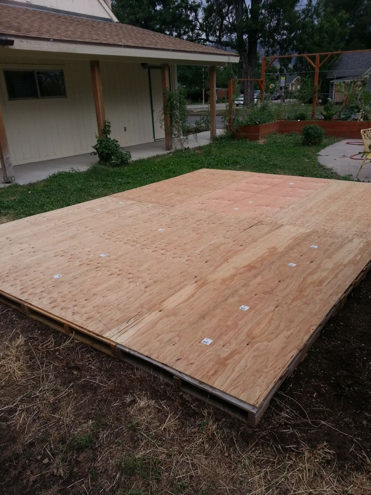 Creating a Dance Floor from Recycled Pallets