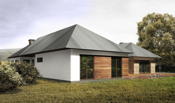 Projekt dużego domu parterowego parterowa rezydencja - JMS