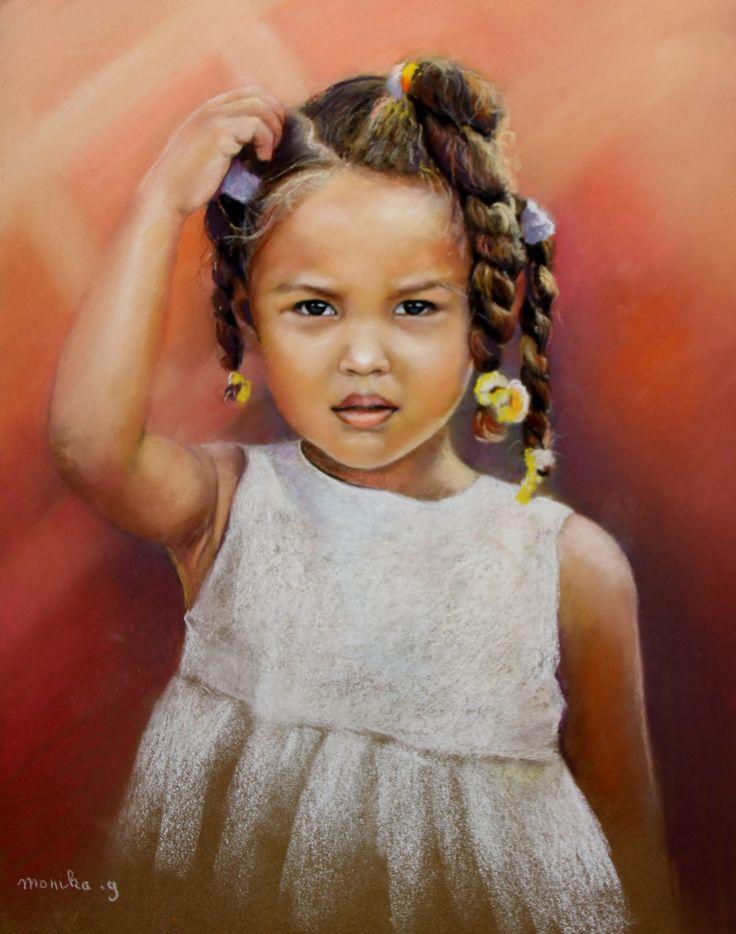Mandy petite Dominicaine Pastel de Monique Genain