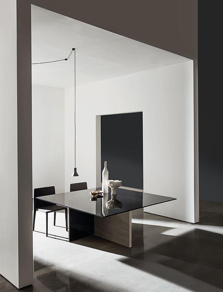 Regolo dining #table  & Pura #chair: beautiful #shapes for #interior #design #sovetitalia #sovet #decor #home #furniture
