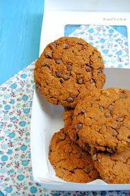 Biscotti all'avena con zucca e gocce di cioccolato fondente