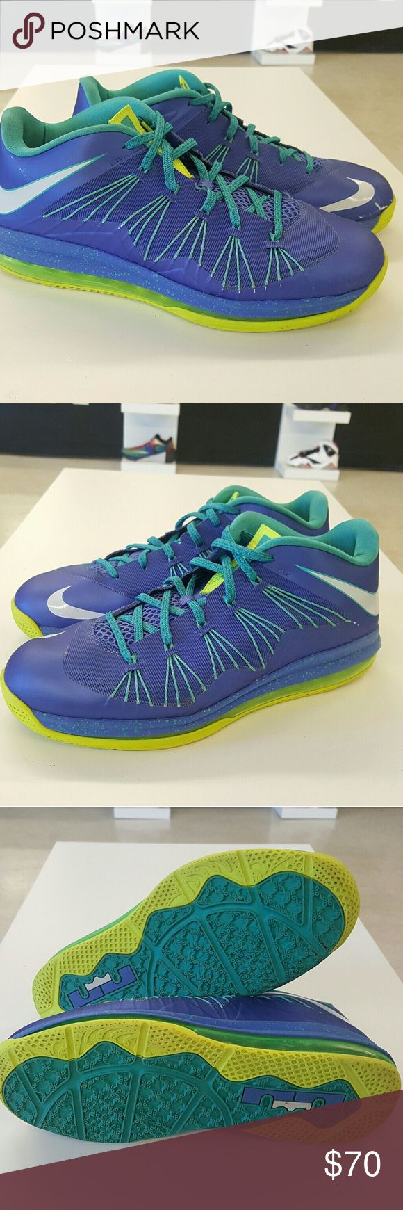 Nike LEBRON 10 Low Sprite Nike LEBRON 10 Low Sprite  Condition 8/10 Sz 11 No box Has two scuffs Same day shipping   100 % authentic Nike Shoes Sneakers