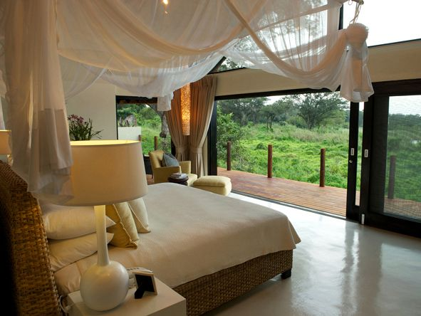 Stunning river views at Lion Sands River Lodge in the Kruger- #Romantic #Beds #weloveafrica #africa