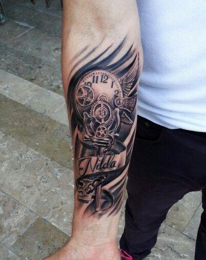 Tattoo #clocktattoo #bio