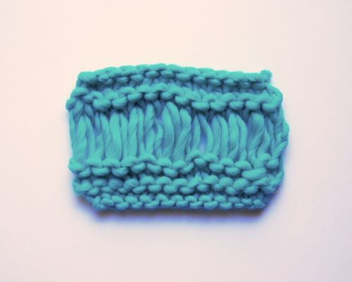 How to knit drop stitch   We Are Knitters Blog