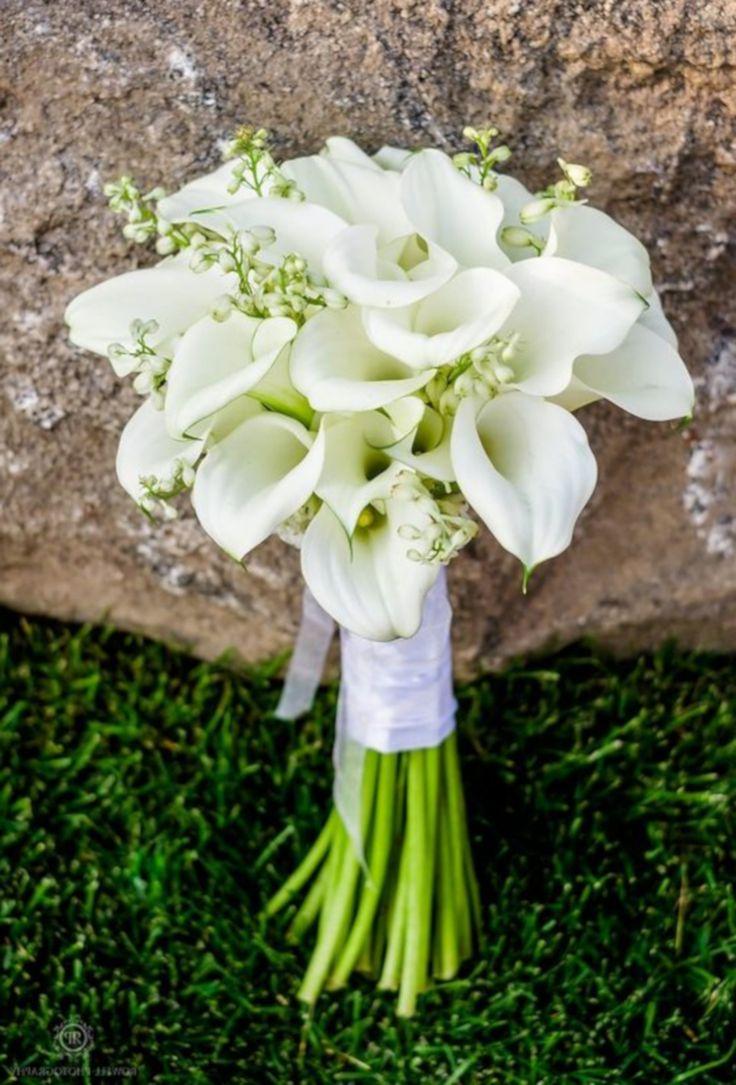 Свадебный букет каллы с ландышем, невесты день