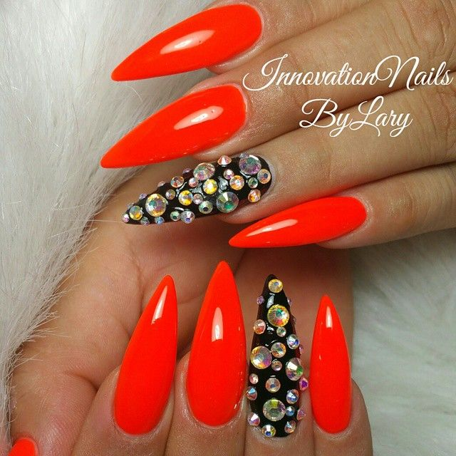 Red Stiletto Nails: 145 Best Images About Red Nails On Pinterest