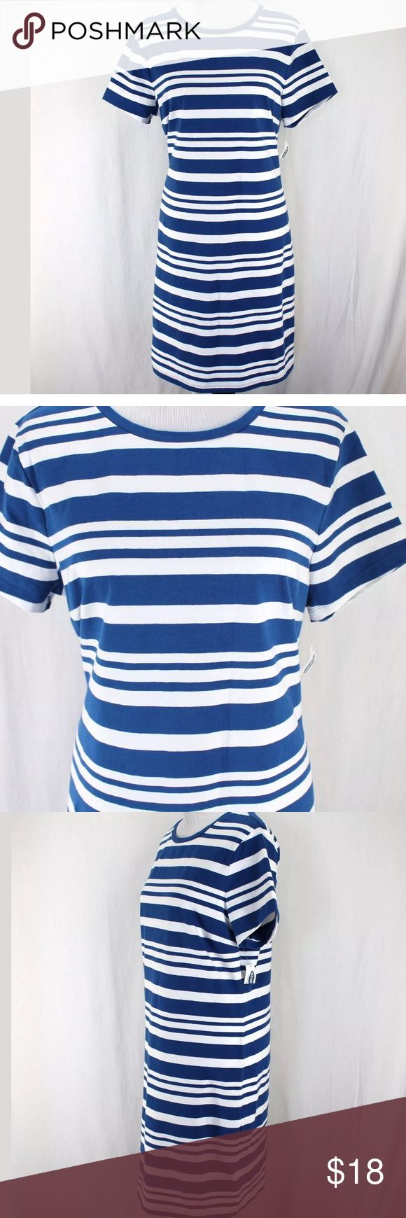 Black t shirt old navy - Old Navy Nautical T Shirt Dress New Blue And White Striped Short Sleeves 93 Cotton