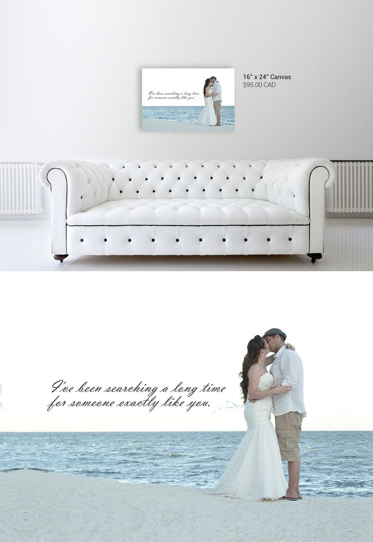 Add the favourite line of your first-dance song to a wedding photo for a personalized canvas. Perfect anniversary gift idea! http://www.onacanvas.com/wedding-photo-canvas-song-lyrics