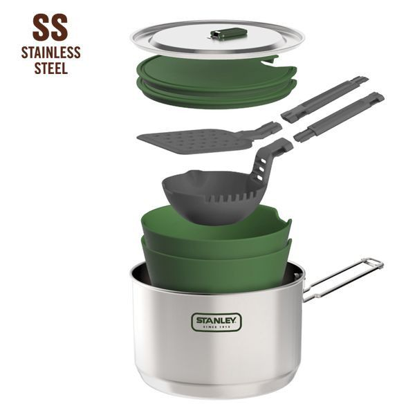 STANLEY | Adventure 1.5L Prep + Cook Set #botanex #botanexstore #qualityproducts #outdoors #waronwaste #camping #glamping #outdoorcooking #ecoliving #protectourplanet #sustainableliving