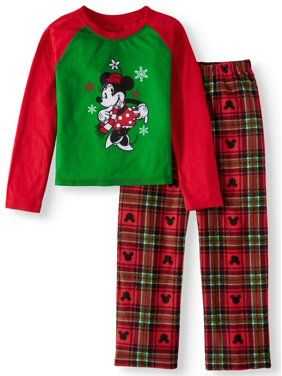 269f4b12 Minnie Mouse Holiday Family Sleep Pajamas, 2-piece Set (Little Girls & Big  Girls)