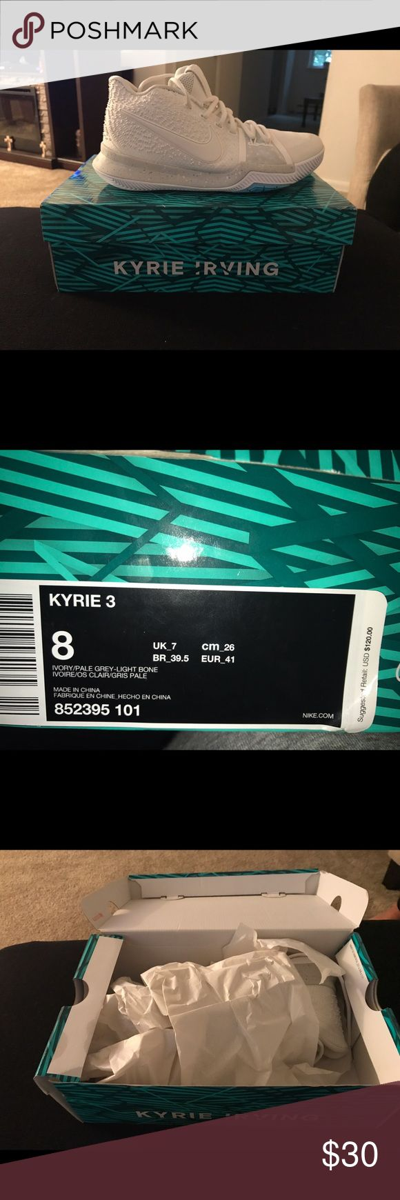 Kyrie 3 size 8 basketball sneakers Kyrie 3 basketball sneakers likely worn . Comes in original box . Really really good condition. Nike Shoes Sneakers