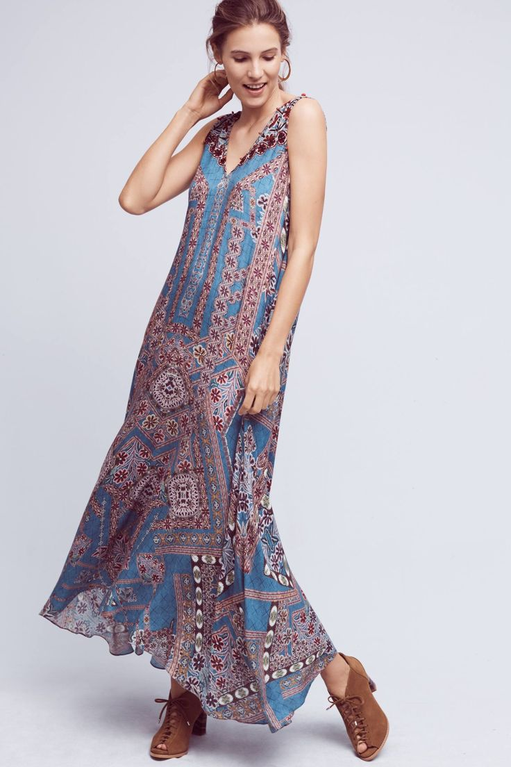 Anthropologie icefall maxi dress