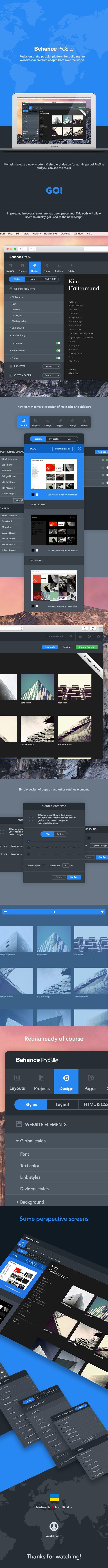 Behance ProSite on Web Design Served