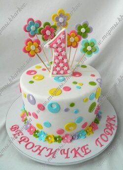 Торт на 1 годик ребенку день рождения своими руками