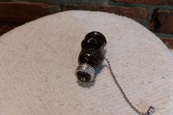 Vintage Bakelite Plug In Bulb Adapter Vintage Eagle Usa Pull