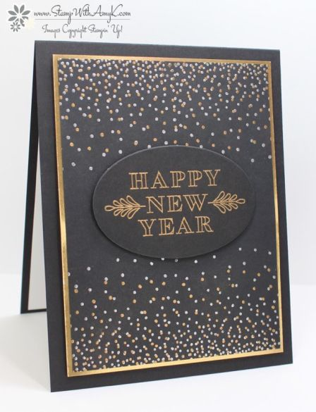 Stampin' Up! Frosted Medallions Happy New Year                                                                                                                                                                                 More