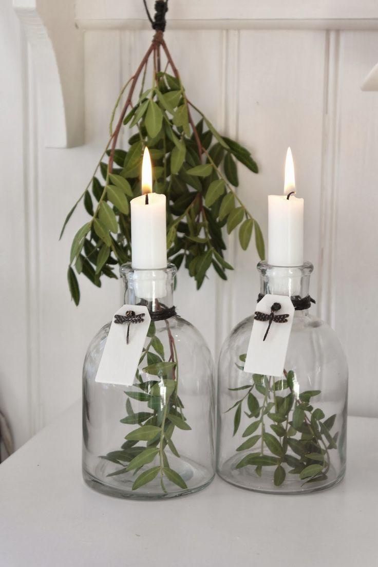 Flaschen mit Kerzen #apothekerflasche #weithals