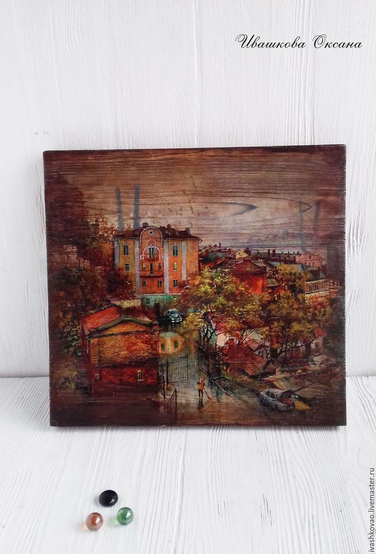 Купить Панно из серии Мой любимый город - комбинированный, ключница ручной работы, панно настенное