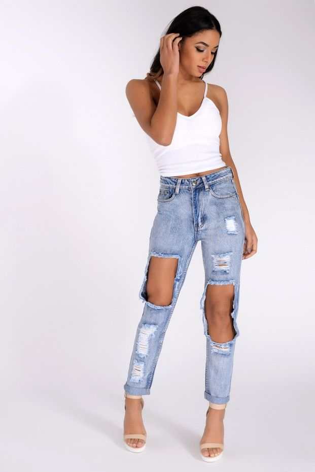 Val Light Blue Ripped Jeans
