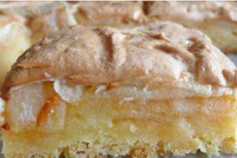 Яблочный пирог с безе. Очень вкусный!