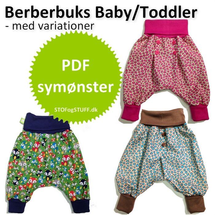 Symønstre til Berberbukser til baby og toddler