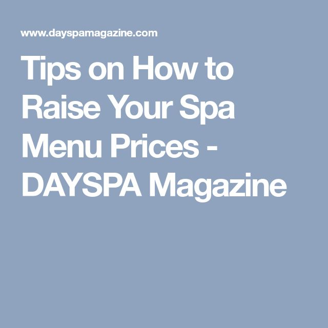 Best 25 spa menu ideas on pinterest sugar salon beauty price raising your menu prices can be a necessity heres how to best implement those increases fandeluxe Image collections