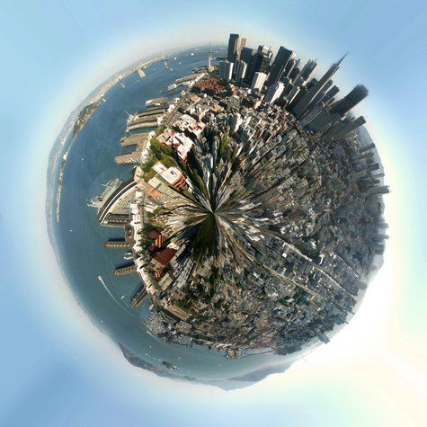 I like how the planet panoramas look and this picture takes you to a website which explains how you do it.