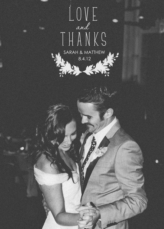 Cute wedding thank you card idea #wedding #thankyoucard #photography