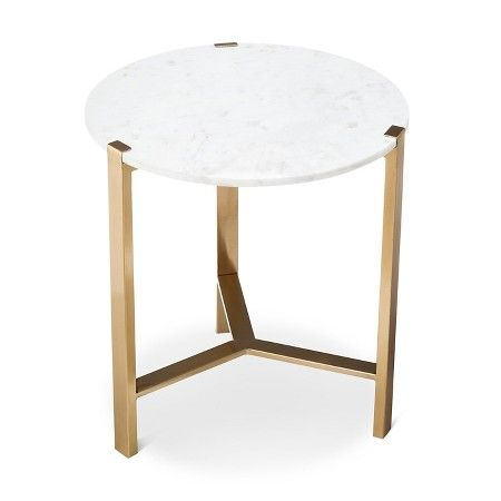 Marble & Gold Accent Table - Nate Berkus™ : Target                                                                                                                                                                                 More