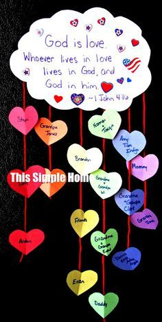 valentine's christian bulletin boards | God is love. GREAT Valentine's Day Activity. Have your children help ...
